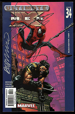 Ultimate X-Men (2001) #34 First Print Signed by Brandon Peterson Spider-Man VF