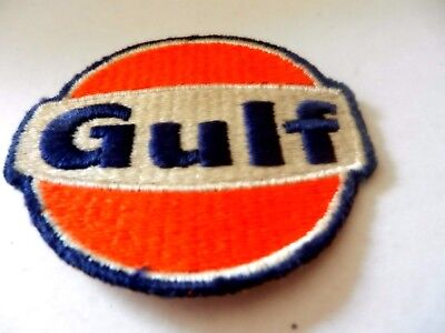 "Gulf Clothing Patch, Used, Vintage, 2.75"" Round"