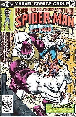 Peter Parker The Spectacular Spider-man #41 April 1980 Giant-man Meteor Goliath!