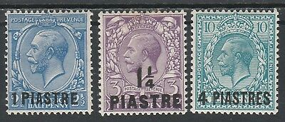 British Levant 1913 Kgv 1 Pi 11/4Pi And 4Pi