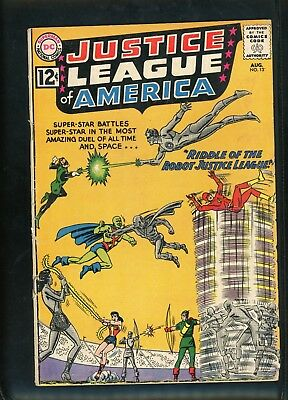 Justice League of America 13 From 1962 Very Good- Condition Batman Wonder Woman