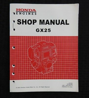 Genuine Honda Gx25 Gx 25 Engine Service Repair Manual Very Nice Shape