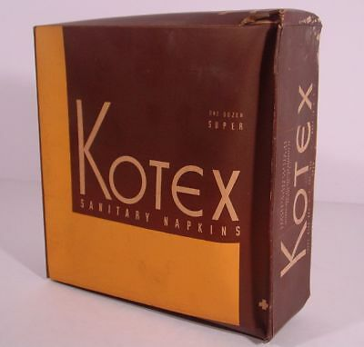 1940's Vintage KOTEX SANITARY NAPKINS 1 Dozen Super STILL SEALED IN ORIGINAL BOX