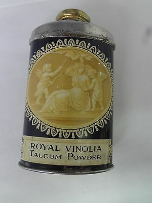 Royal Vinolia  Brand  Talc Talcum Powder Tin Vintage Advertising Tin  S-2167