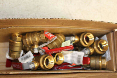 Lot of (15) Mueller 107-824NL Ball Valve 3/4 In 600 PSI Forged Brass Threaded