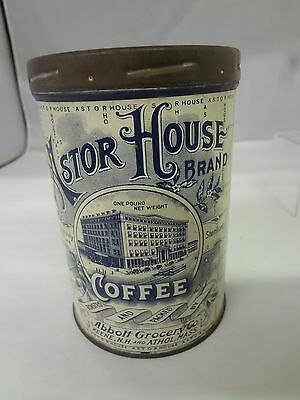 Vintage Astor House Coffee With Original Lid  Advertising Collectible  747-X