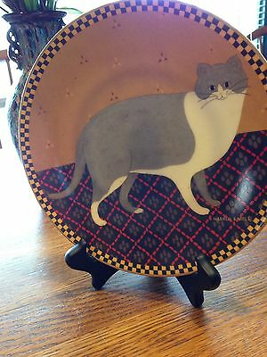 Lenox Warren Kimble Cat Collection, Welcome Cat Numbered Plate # A4340