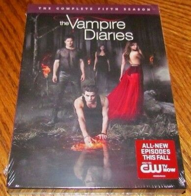 THE VAMPIRE DIARIES The Complete Fifth Season DVD 2014 5-Disc Set Brand NEW