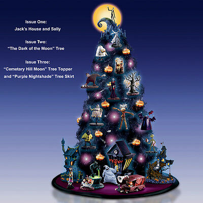 Nightmare Before Christmas Black Tree with Ornaments Skirt Topper Complete set