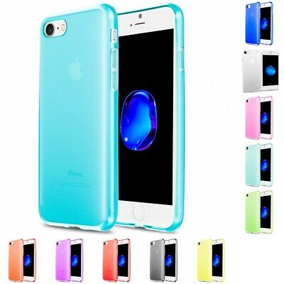 For Apple iPhone 8 Slim-Grip Case TPU Rubber Transparent Silicone Cover
