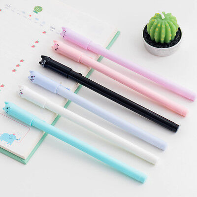 1Pc Cute Cat Gel Pens Black Ink Ballpoint Office School Student Stationery Gift