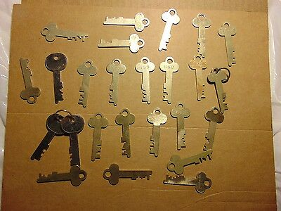 Vintage LOT OF 25 Brass Diebold and unmarked Safe Deposit box Lock Keys-Lot- 5