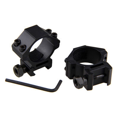 Low Profile Dovetail 21mm Scope Mount Rail Ring 1'' 30mm For Laser/Flashlight