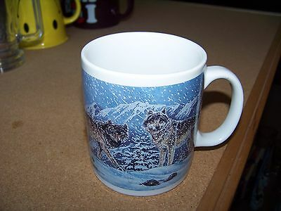 Friends of the Forest Wolves porcelain coffee mug cup Wolf