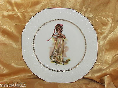 Vintage Wood & Sons Stratford Pinky Lawrence Collector Plate Embossed England