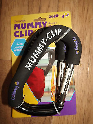 Mummy Clip Buggy/Pram Bag Hook/Clip Twin Pack of 2  fits Bugaboo