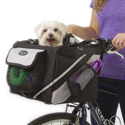 Pet Puppy Bicycle Storage Basket Ride Bike Canopy Dog Cat Carrier Travel Safety