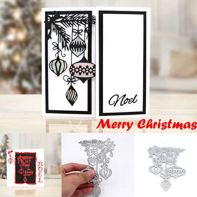 Christmas Holly Bauble Metal Cutting Dies Stencil Scrapbook Card Embossing Craft