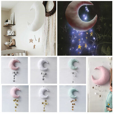 Lovely Plush Cotton Star Moon Tent Wall Hanging Decor Nordic Style Photo Props