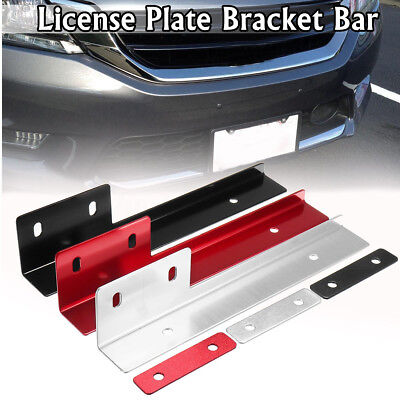 Universal Aluminum Front Bumper License Plate Mounting Relocate Bracket Holder