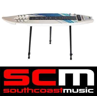 Mahalo 6 String Surfboard Shaped Lapsteel Lap Steel Guitar with Bag & Stand