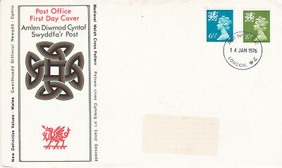 GB 1976 Wales New Definitives FDC London WC CDS VGC