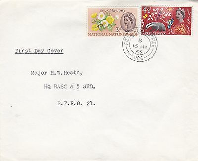 GB 1963 National Nature Week FDC Army FPO 986 VGC