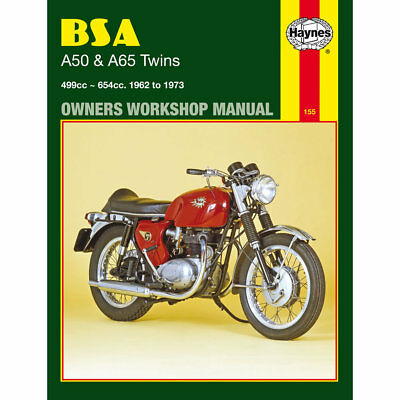 BSA A50 A50C A65FB A65L A65R A651T A652H A652S Twins 1962-1973 Haynes Workshop M
