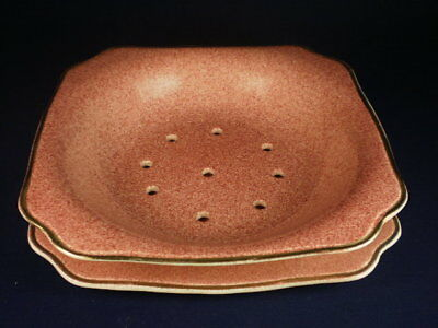 EMPIRE WARE PINK STRAINER BOWL & PLATE c. 1940