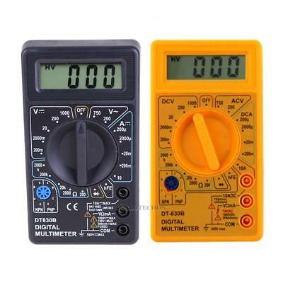 Digital LCD Multimeter AC/DC 750/1000V Amp Volt Ohm Circuit Checker Tester Meter
