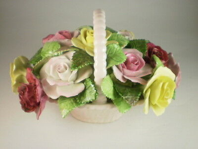 Adderley Pink & Yellow Roses Large Basket Ornament