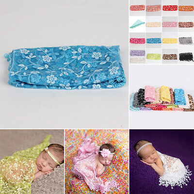 Newborn Baby Lace Washcloth Floral Wrapped Blanket Photography Photo Props New
