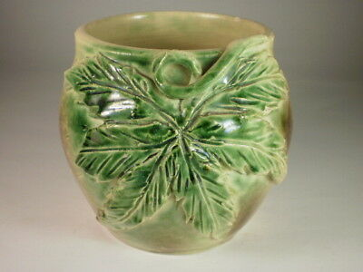 Murphy Pottery Green Leaf Vase