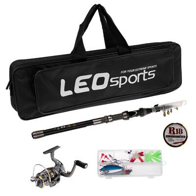 Left/Right Spinning Reel Line Lures Accessories Combos Sea Fishing Rod Kit