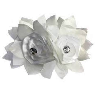 Hamag Rose Hair Scrunchie - white Hamag