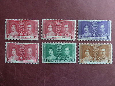 1937 CORONATION King George VI,  COMMONWEALTH stamps