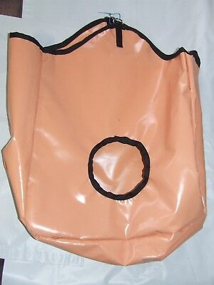 Ecotak PVC Hay Bag - peach with black trim Ecotak