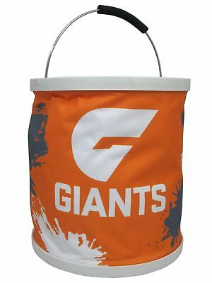 GWS Giants AFL 11 Litre Foldable Bucket With Carry Bag