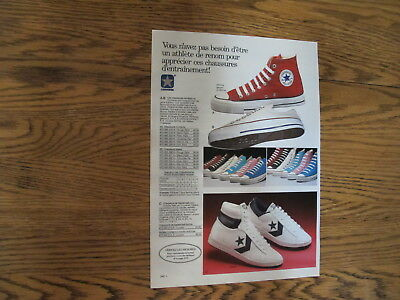 Vintage 1988,converse Shoes Print Ad,clipping.