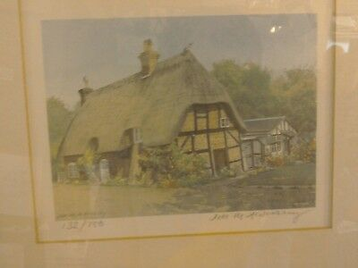 Watercolour by Jill Aldersley - Thatched Cottage ref 132/750.