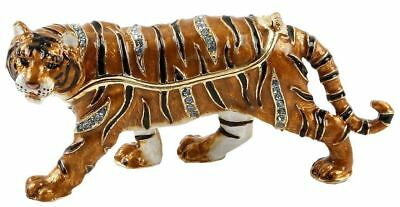 Treasured Trinkets Tiger Metal Die Cast Trinket Gift Box 14702