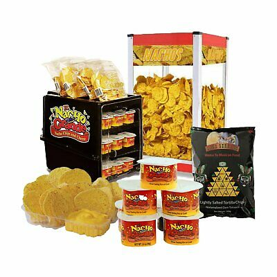 Nachos Kit – Chip Warmer + Cheese Warmer + Cheese Sauce + Tortilla Chips + Trays