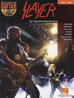 Slayer Guitar Play-Along Volume 156 TAB Music Book & Backing Tracks CD