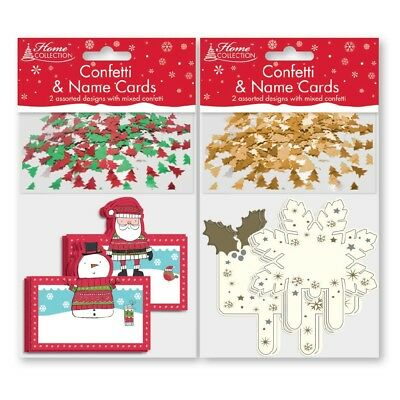 Christmas Place Name Cards & Table Confetti Dinner Party Decoration Xmas XPACNC
