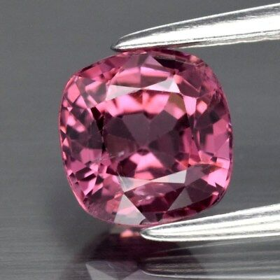 Gorgeous! 1.38ct 6mm Cushion Natural Purple Spinel, M'GOK