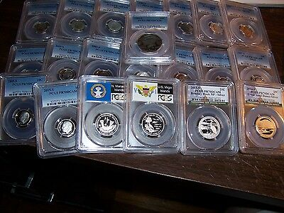 (Lot Of 3) Pcgs-Proof 70 Dcam Or Ngc Pf 70 Uc Or Sp 70 Or Ms70--All Are Top Pops
