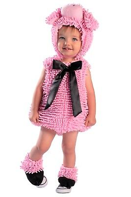 Squiggly Piggy PIG Plush Chenille Costume Baby Toddler 6 9 12 18 24 mo 2T 3T 3 4