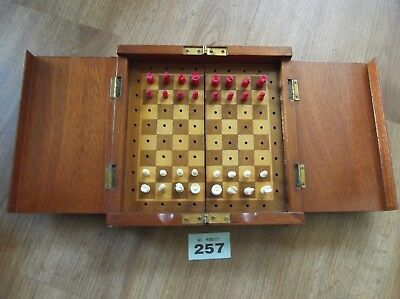 Travelling Chess Set In Wooden Box