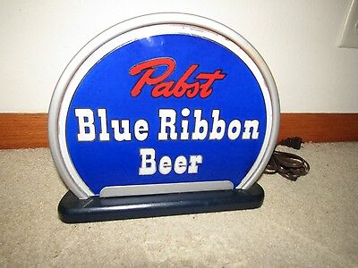 1930's PABST BLUE RIBBON BEER  ROG BACK BAR LIGHTED SIGN