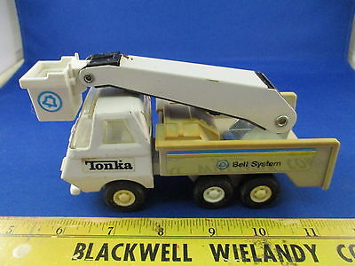 VTG Tonka Truck Bell Telephone System w/Lift Bucket Metal Pressed Steel